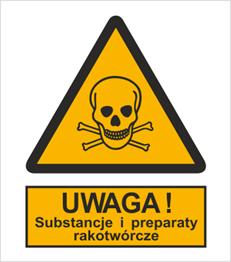 Obrazek dla kategorii Znak Ostrzeżenie przed substancjami i preparatami rakotwórczymi (302-02)