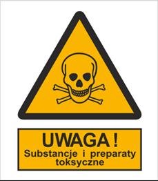 Obrazek dla kategorii Znak Ostrzeżenie przed substancjami i preparatami toksycznymi (302-03)