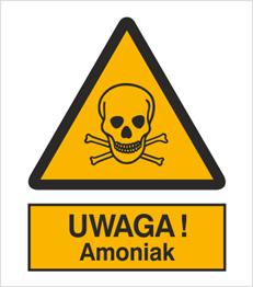 Obrazek dla kategorii Znak Uwaga! Amoniak (302-04)