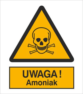 Znak Uwaga! Amoniak (302-04)