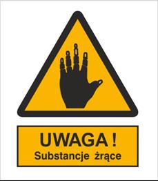 Obrazek dla kategorii Znak Ostrzeżenie przed substancjami żrącymi (303-04)