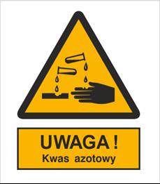 Obrazek dla kategorii Znak Ostrzeżenie przed kwasem azotowym (303-03)
