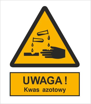 Znak Ostrzeżenie przed kwasem azotowym (303-03)