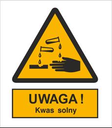 Obrazek dla kategorii Znak Ostrzeżenie przed kwasem solnym (303-06)