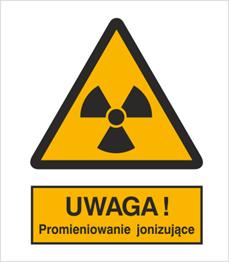 Obrazek dla kategorii Znak Ostrzeżenie przed promieniowaniem jonizującym (304-02)