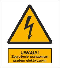 Obrazek dla kategorii Znak Ostrzeżenie przed porażeniem prądem elektrycznym (307)