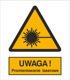 Obrazek dla kategorii Znak Ostrzeżenie przed promieniami laserowymi (308)