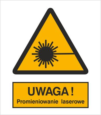 Znak Ostrzeżenie przed promieniami laserowymi (308)