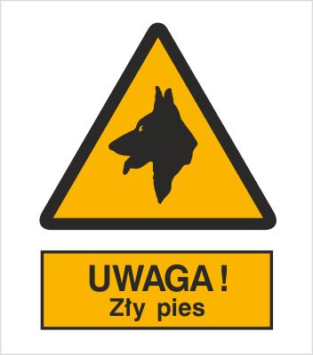 Znak Uwaga! Zły pies (309)