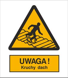 Obrazek dla kategorii Znak Ostrzeżenie przed kruchym dachem (310)