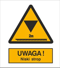 Obrazek dla kategorii Znak Ostrzeżenie przed ograniczeniem wysokości (312)