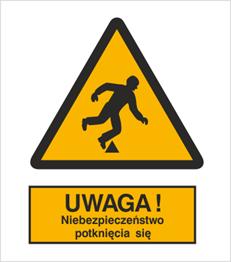 Obrazek dla kategorii Znak Ostrzeżenie przed niebezpieczeństwem potknięcia (313)