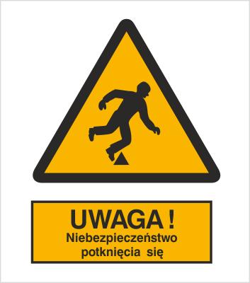 Znak Ostrzeżenie przed niebezpieczeństwem potknięcia (313)