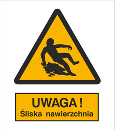 Obrazek dla kategorii Znak Ostrzeżenie przed śliską nawierzchnią (314)