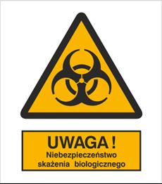 Obrazek dla kategorii Znak Ostrzeżenie przed skażeniem biologicznym (316)