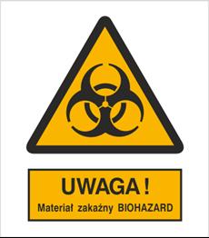 Obrazek dla kategorii Znak Ostrzeżenie przed materiałem zakaźnym biohazard (316-01)