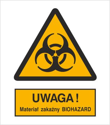 Znak Ostrzeżenie przed materiałem zakaźnym biohazard (316-01)