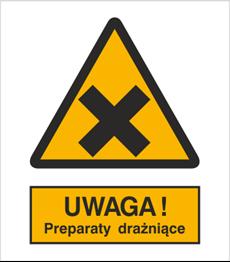 Obrazek dla kategorii Znak Ostrzeżenie przed preparatami drażniącymi (318)