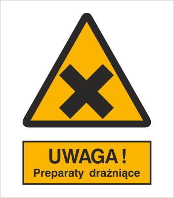 Znak Ostrzeżenie przed preparatami drażniącymi (318)