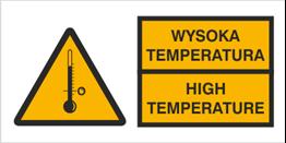 Obrazek dla kategorii Znak Ostrzeżenie przed wysoką temperaturą (320)