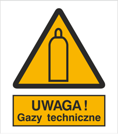 Obrazek dla kategorii Znak Ostrzeżenie przed gazami technicznymi (321)