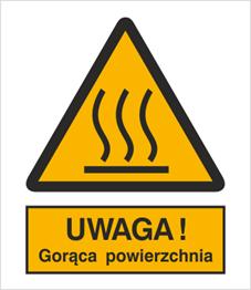 Obrazek dla kategorii Znak Ostrzeżenie przed gorącą powierzchnią (322)