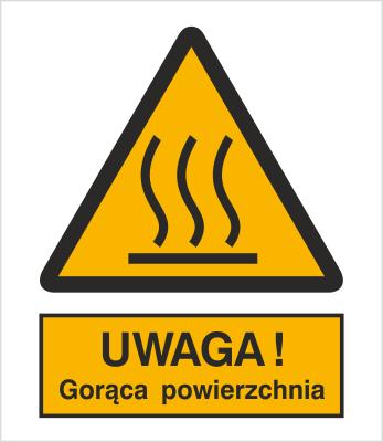 Znak Ostrzeżenie przed gorącą powierzchnią (322)