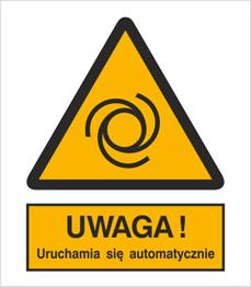 Obrazek dla kategorii Znak Ostrzeżenie przed uruchamianiem automatycznym (323)