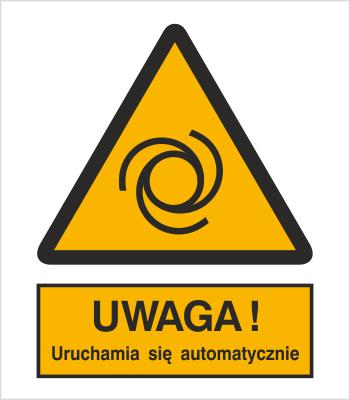 Znak Ostrzeżenie przed uruchamianiem automatycznym (323)