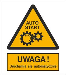 Obrazek dla kategorii Znak Ostrzeżenie przed uruchamianiem automatycznym (323-01)