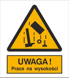 Obrazek dla kategorii Znak Ostrzeżenie przed pracami na wysokości (324)