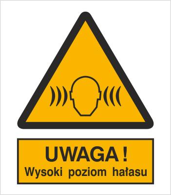 Znak Ostrzeżenie przed wysokim poziomem hałasu (325)