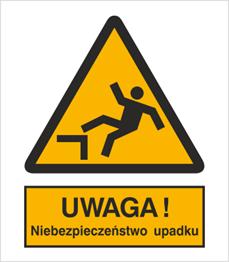 Obrazek dla kategorii Znak Ostrzeżenie przed niebezpieczeństwem upadku (326-01)