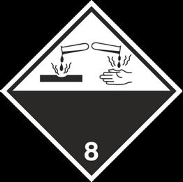 Obrazek dla kategorii Znak Materiały żrące (215-04)