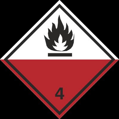 Znak Materiały samozapalne (215-08)