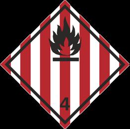 Obrazek dla kategorii Znak Materiały stałe zapalne, materiały samoreaktywne i materiały wybuchowe stałe odczulone (215-10)