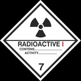 Obrazek dla kategorii Znak Materiały promieniotwórcze, kategoria I (215-17)