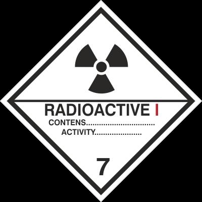 Znak Materiały promieniotwórcze, kategoria I (215-17)