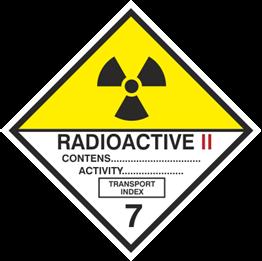 Obrazek dla kategorii Znak Materiały promieniotwórcze, kategoria II (215-17)