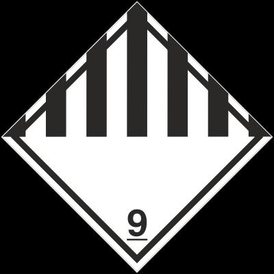 Znak Różne materiały i przedmioty niebezpieczne (215-18)