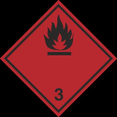 Znak Materiały ciekłe zapalne (215-19)
