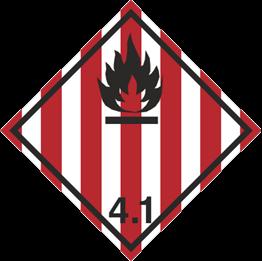 Obrazek dla kategorii Znak Materiały stałe zapalne, materiały samoreaktywne i materiały wybuchowe stałe odczulone (215-22)