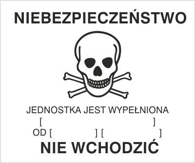 Znak Ostrzeżenie o gazowaniu (215-30)