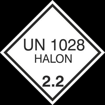 Znak UN 1028 HALON 2,2 (215-38)