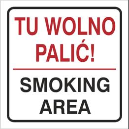 Obrazek dla kategorii Znak Tu wolno palić Smoking area (702-76)