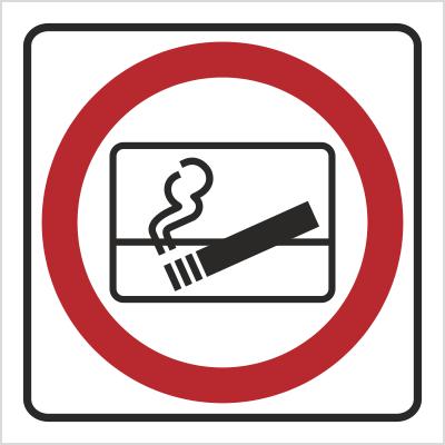 Znak Zakaz wyrzucania niedopałków za okno (702-79)