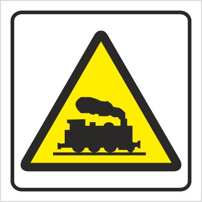 Znak Uwaga na pociąg (702-81)
