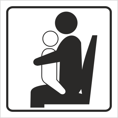 Znak Miejsce dla osoby z dzieckiem (702-86)