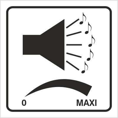 Znak Regulacja głośnika (702-88)