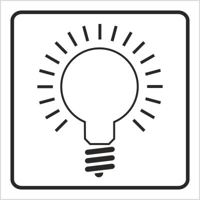 Znak Włącznik oświetlenia (702-89)